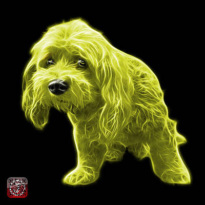 Painting - Yellow Lhasa Apso Pop Art - 5331 - Bb by James Ahn