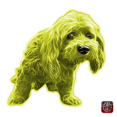 Painting - Yellow Lhasa Apso Pop Art - 5331 - Wb by James Ahn