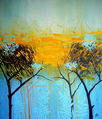 Pictori Romani Contemporani Painting - Yellow Light 1 by Gabriela Calinoiu