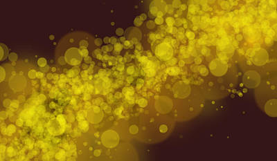 Photograph - Yellow Lights Bokeh On Dark Background by John Williams