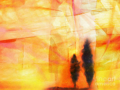 Abstract Vision Painting - Yellow Lightscape by Lutz Baar