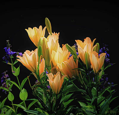Photograph - Yellow Lilies by John Rivera