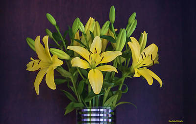 Photograph - Yellow Lilies by Roberta Byram