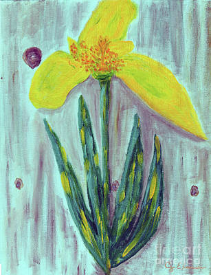 Painting - Yellow Lily by Carol Eliassen