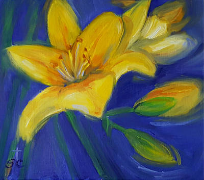 Painting - Yellow Lily by Sharon Casavant