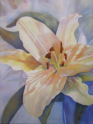 Painting - Yellow Lily by Teresa Beyer