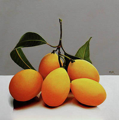 Painting - Yellow Marian Plums by Dietrich Moravec