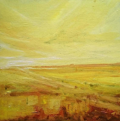Painting - Yellow Marshes by Paul Mitchell