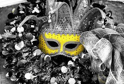 Photograph - Yellow Mask Fusion by John Rizzuto