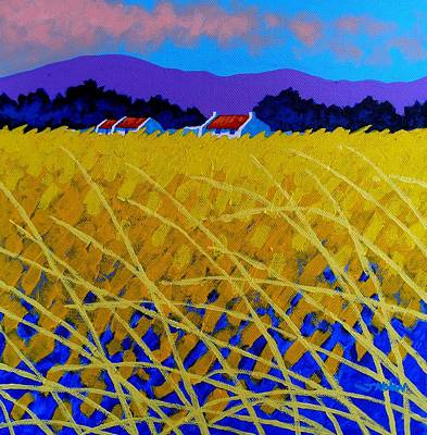 December Painting - Yellow Meadow by John  Nolan