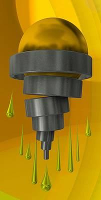 Illustration Digital Art - Yellow Mechanical Icecream by Alberto RuiZ