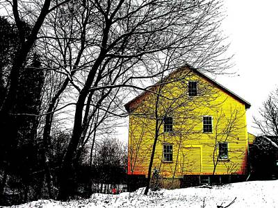 Photograph - Yellow Mill In Winter by Christine Montague