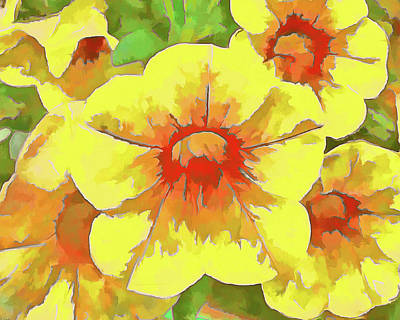 Yellow Million Bells Art Print