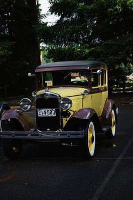 Photograph - Yellow Model T by Tikvah's Hope