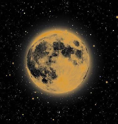 Yellow Moon Art Print by Thomas M Pikolin