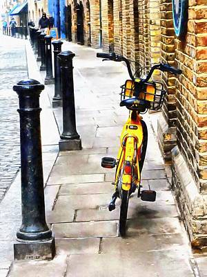 Photograph - Yellow Moped At Shad Thames by Dorothy Berry-Lound
