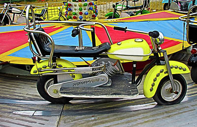 Photograph - Yellow Motorcycle Ride by Tony Grider