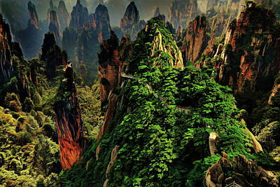 Landscape Photograph - Yellow Mountain - Eastern China by Russ Harris