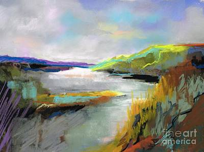 Yellow Mountain Art Print by Frances Marino
