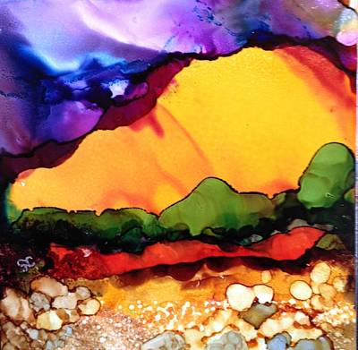 Painting - Yellow Mountain by Suzanne Canner