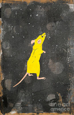 Painting - Yellow Mouse by Stefanie Forck