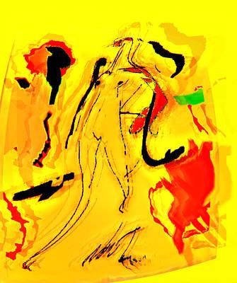 Yellow Art Print by Noredin Morgan