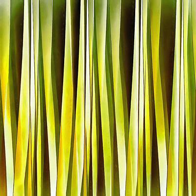 Digital Art - Yellow Ochre And Brown Stripy Lines Pattern by Tracey Harrington-Simpson