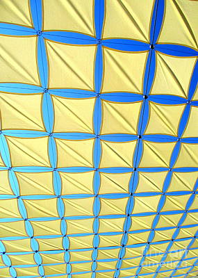 Yellow On Blue Sky 2 Art Print by Randall Weidner