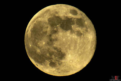 Photograph - Yellow-orange Moon 29may18 by Michael Frank Jr