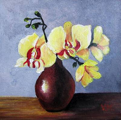Painting - Yellow Orchid  by Vesna Martinjak