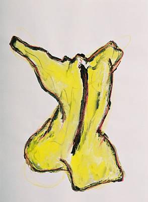 Yellow Art Print by Oudi Arroni