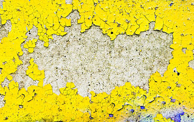 Messy Photograph - Yellow Paint by Tom Gowanlock