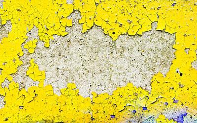 Yellow Paint Art Print by Tom Gowanlock