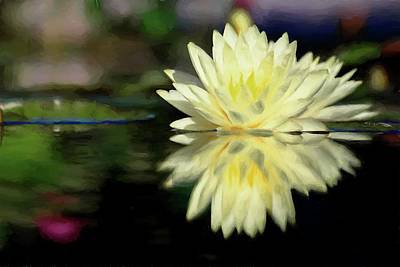 Digital Art - Yellow Painted Waterlily  by Carol Montoya