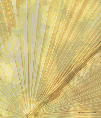 Radials Photograph - Yellow Palm Frond Rh by Marvin Spates