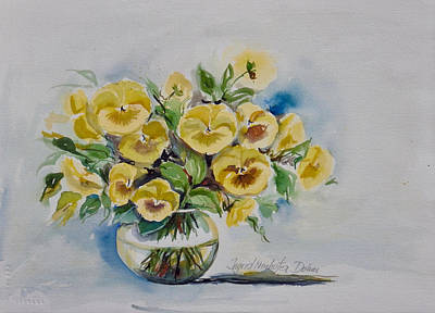 Painting - Yellow Pansies by Ingrid Dohm
