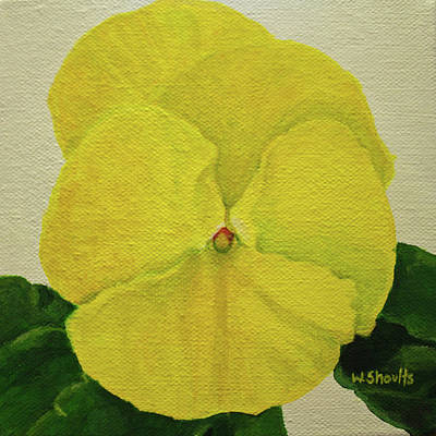 Painting - Yellow Pansy by Wendy Shoults