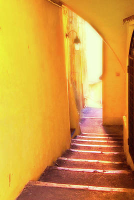 Art Print featuring the photograph Yellow Passage  by Harry Spitz