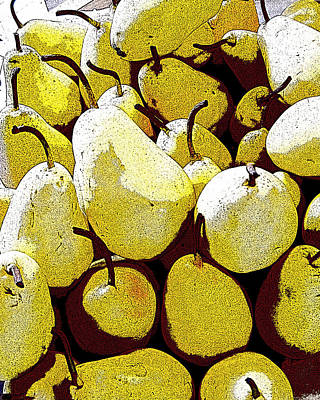 Abstract Realism Digital Art - Yellow Pears by Glennis Siverson