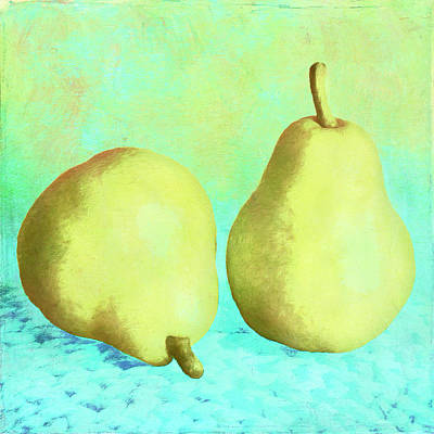 Digital Art - Yellow Pears by Sandra Selle Rodriguez