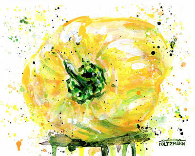 Painting - Yellow Pepper by Arleana Holtzmann