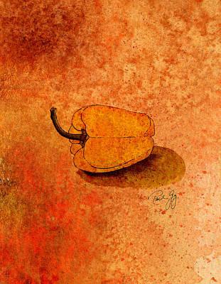 Pepper Mixed Media - Yellow Pepper by Paul Gaj