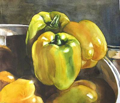 Painting - Yellow Peppers by Alfred Ng