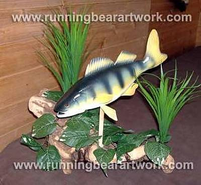 Sculpture - Yellow Perch by Michael Meissner