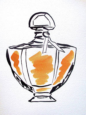 Painting - Yellow Perfume Bottle by Sacha Grossel