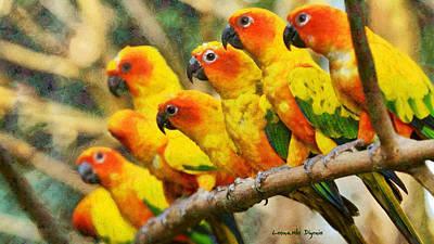 Yellow Periquitos - Da Art Print