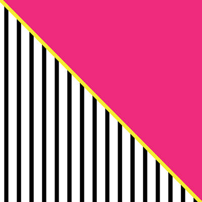 Yellow Pink And Black Geometric 2 Art Print