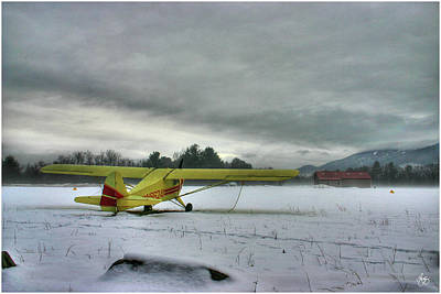 Photograph - Yellow Plane In Winter by Wayne King