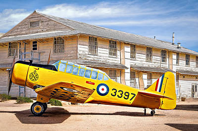 Photograph - Yellow Plane by Maria Coulson