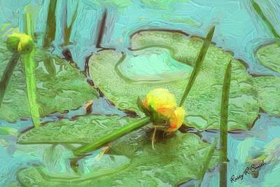 Digital Art - Yellow Pond Lilly Impression. by Rusty R Smith
